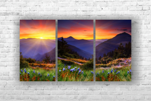 "Картина на холсте ""Горы"" 105х60см"