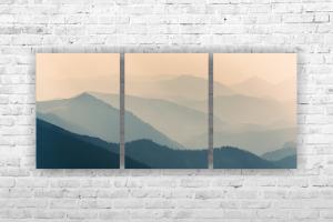 "Картина на холсте ""Горы"" 102х47см"