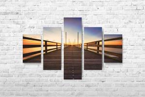 """Картина на холсте """"Мост"""" 135х90см"""