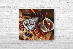 """Картина на холсте """"Кофе"""" 40х35см"""