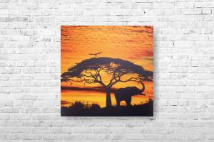 """Картина на холсте """"Слон"""" 40х40см"""