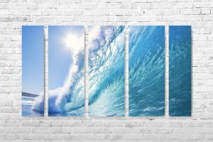 "Картина на холсте ""Волна"" 130х60см"