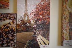 """Картина на холсте """"Париж"""" 30х55см"""