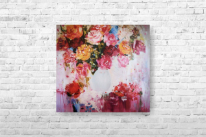 "Картина на холсте ""Цветы""  50х47см"