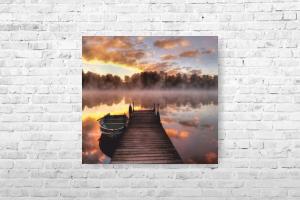 """Картина на холсте """"Лодка"""" 64х60см"""