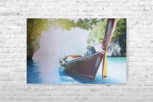 """Картина на холсте """"Лодка"""" 77х50см"""