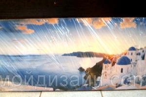 """Картина на холсте """"Греция"""" 100х40"""