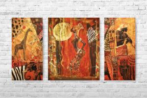 """Картина на холсте """"Африка"""" 90х50см"""