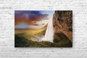 """Картина на холсте """"Водопад"""" 120х80см"""