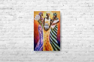 """Картина на холсте """"Африканки"""" 30х45см"""