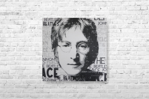 """Картина на холсте """"Джон Леннон""""  30х30см"""