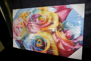 """Картина на холсте """"Цветные розы""""  67х40см"""