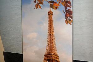 "Картина на холсте ""Осень в Париже"" 27х69см"