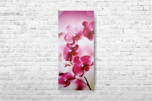 """Картина на холсте """"Розовые орхидеи"""" 27х60см"""