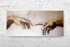 """Картина на холсте """"Сотворение мира"""" 90х40см"""