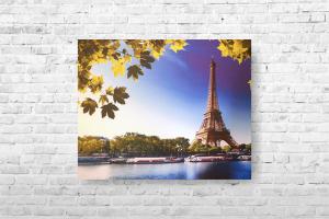 "Картина на холсте ""Берег Сены в Париже"" 66х50см"