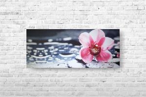 "Картина на холсте ""Орхидея на камушках"" 62х26см"