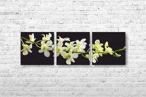 "Картина на холсте Цветы"" 150х50см"